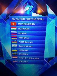 EUROVISION 2014 SEMIFINAL 1 RESULTS