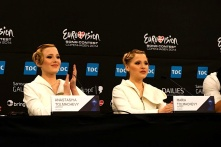 TOLMACHEVY SISTERS PRESS CONFERENCE