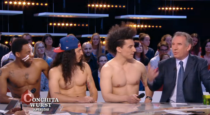Twin twin naked on french tv oikotimes com vienna 2015 eurovision